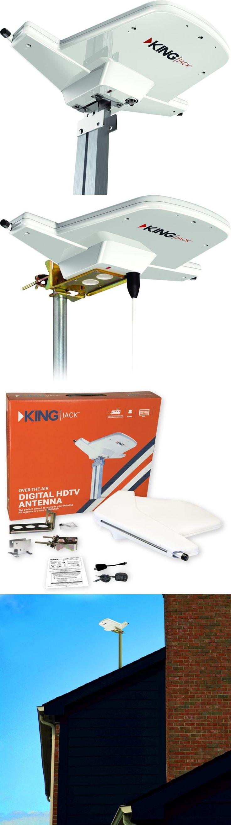 Antennas and Dishes: Jack Hdtv Rv Digital Tv Antenna Over Air Programming Vhf Uhf Signal Trailer New -> BUY IT NOW ONLY: $52.35 on eBay!
