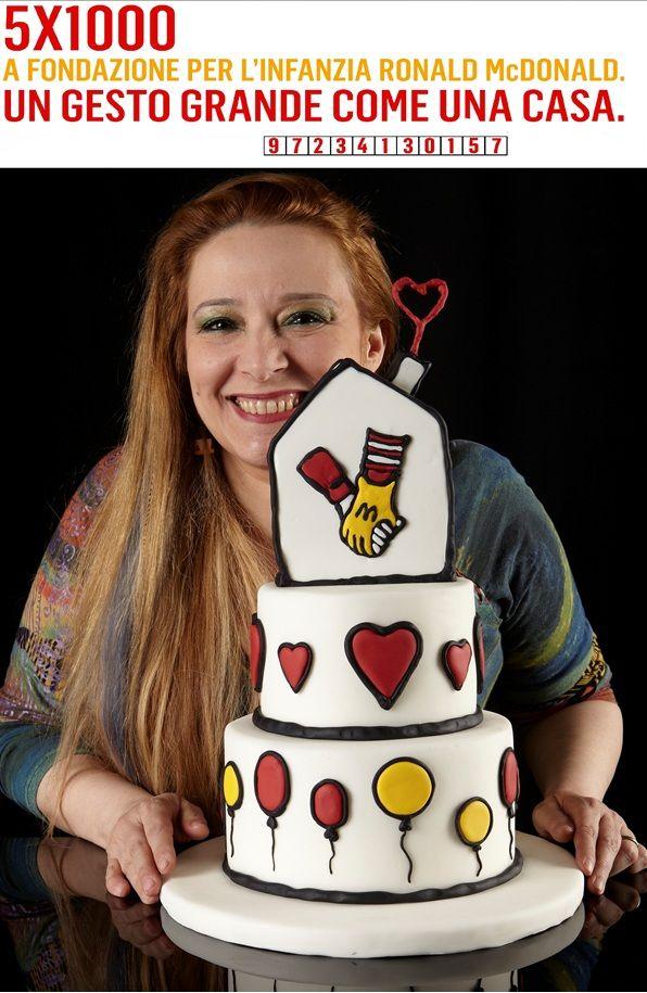 Barbara Perego Cake Design e la sua torta per Fondazione Per l'Infanzia Ronald McDonald