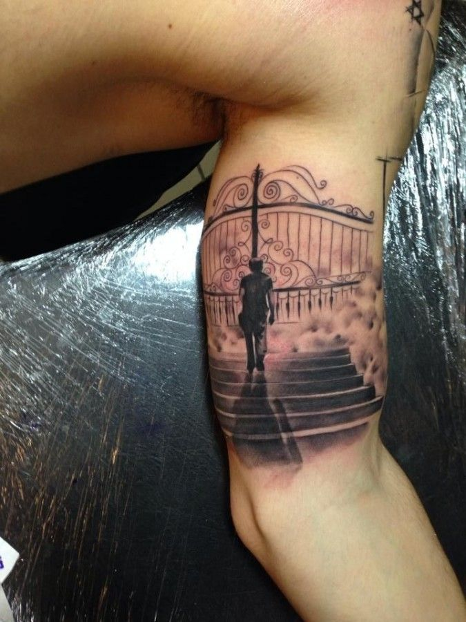 1000+ images about Stairway to Heaven Tattoos on Pinterest ... Open Gates Of Heaven Drawing