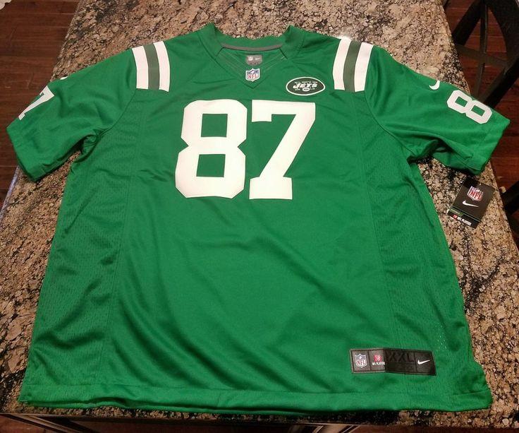 Nike NFL NY Jets Eric Decker #87 Stitched Sewn Jersey 2XL NWT 829594-304 XXL #NikeNFLNewYorkJets #NewYorkJets