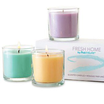 How to get rid of unwanted odors? Try all three new Fresh Home fragrances: Fresh Aloe Eucalyptus, Fresh Citrus Nectar, Fresh Lavender Sandalwood. All three neutralize odors using natural essential oils.Find yours at www.partylite.biz/dbwaxwithcare