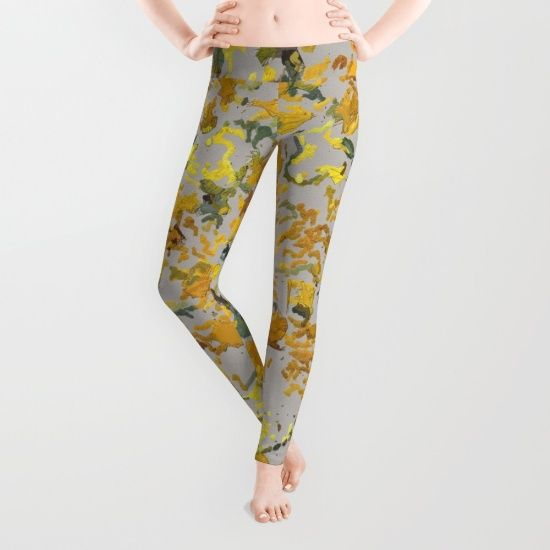 Fun, Sunflower seeds on canvas #1903 printed leggings