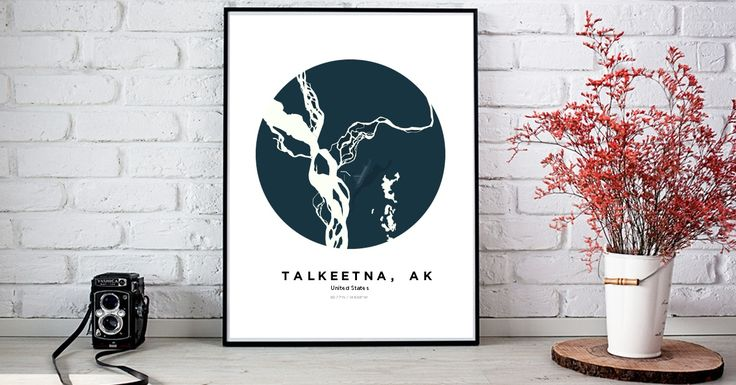 Talkeetna, AK | Custom Map Maker – Make Your Own Map Poster Online - YourOwnMaps