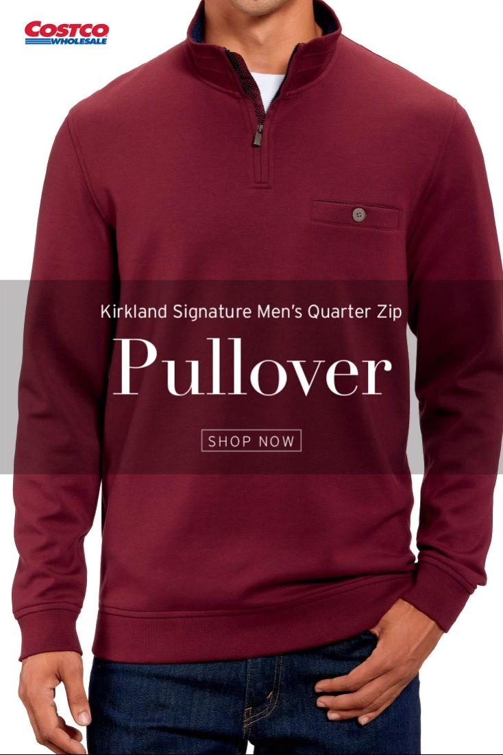Kirkland Signature Men S Quarter Zip Pullover Video Video In 2020 Quarter Zip Pullover Quarter Zip Pullover