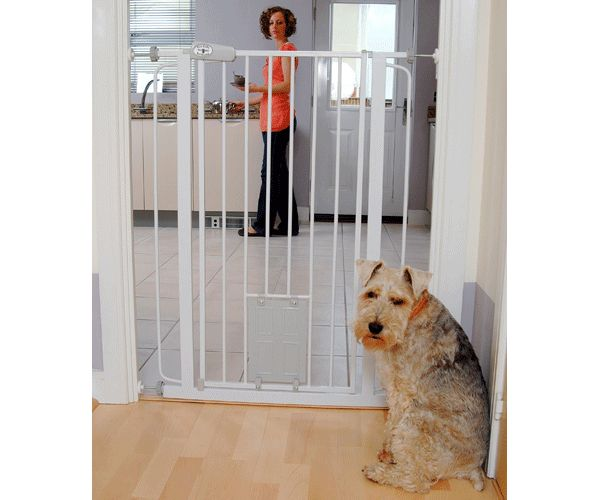 The Bettacare Extra Tall Pet Gate With Cat Flap is very useful for dogs that might jump over regular baby gates. #Baby #Toddler #Safety #Gates #Home #Stair #Child #Proofing