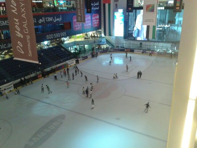 Ice skating(???) in Dubai Mall