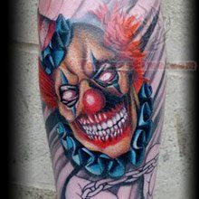 This blog is about different types of Clown Tattoos that people get: