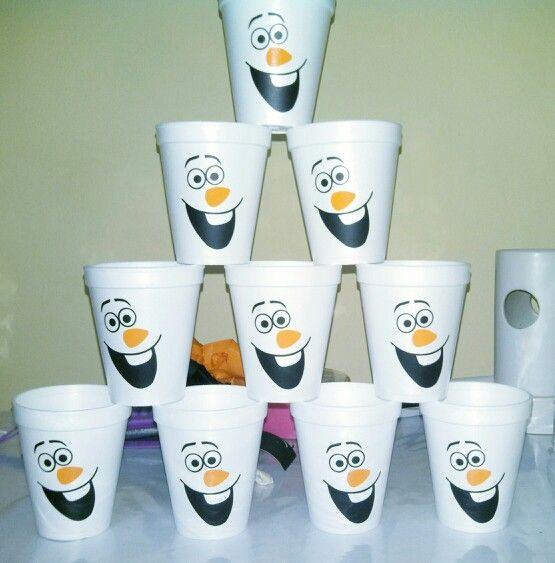 Vasos descartables de Olaf
