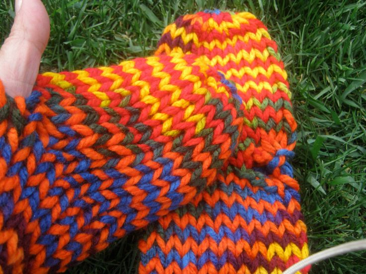 Ladies Texting MITTS Hand-warmers,  Knit Gift, Multi-color/Black,  Acrylic, READY to ship by KnitIdea on Etsy