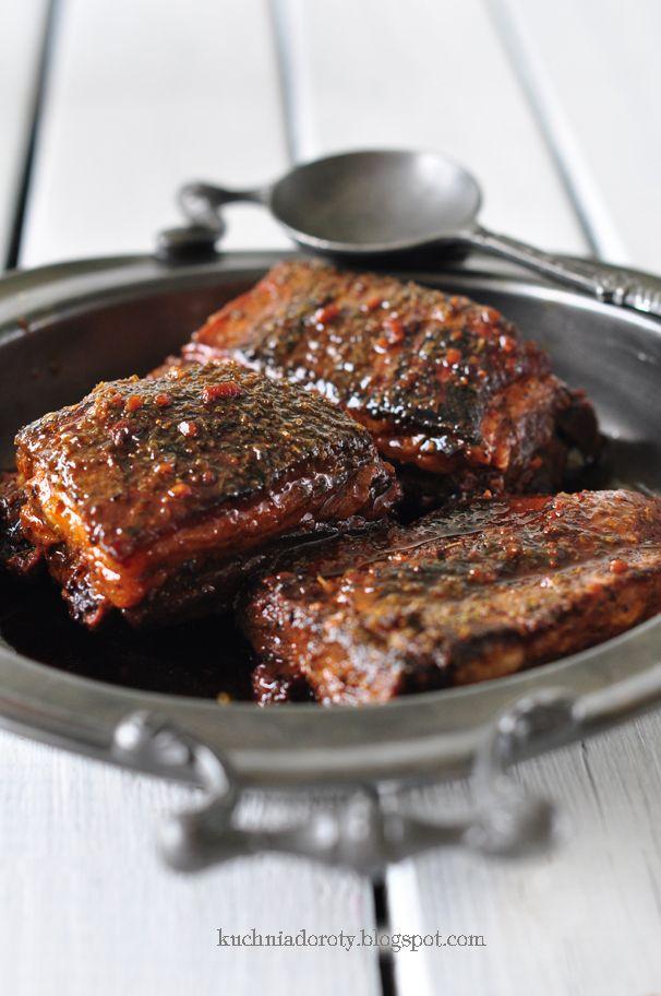 Żeberka w miodzie (spare pork ribs in honey)