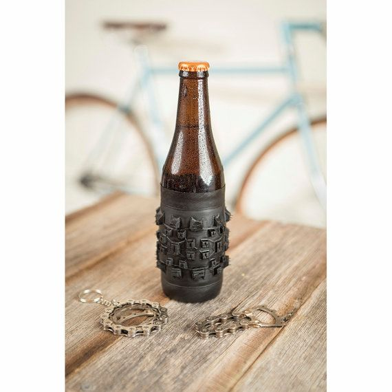 upcycling for the cyclist, Bike Tyre Beer Holder  Bicycle Tire Beer Holder  by treadandpedals