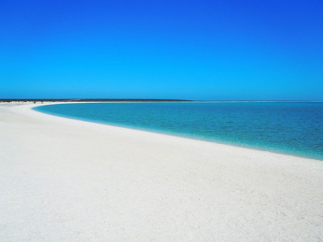 Shell Beach is a beach in Shark Bay region of Western Australia. It is one of only two beaches in the world made entirely from shells.