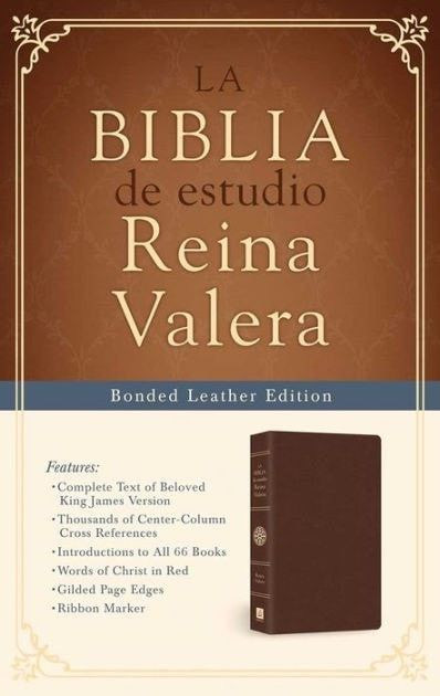 Spanish - RVR 1909 Study Bible (La Biblia De Estudio Reina Valera)-Brown Bonded Leather