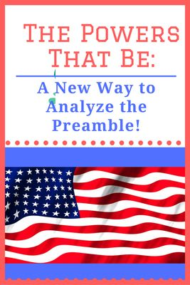 Help your students understand the Preamble as never before even as they engage in critical analysis skills, examining the Enumerated Powers of Congress as listed in Article I by comparing them to the goals of government found in the Preamble. Full instructions included in this blog post to help you take your Constitution teaching to the next level!