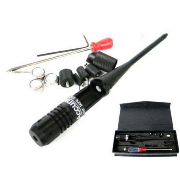 Mira Telescópica táctica 650nm Rojo Colimador Láser Bore Sight, 22-, 50 Calibre Boresighter 3 Colimador Batería para caza