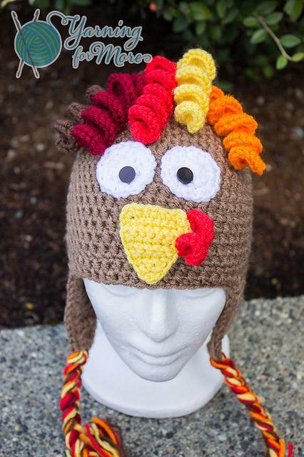 Turkey Hat By Ronda Goetz - Purchased Crochet Pattern - Adult And Children Sizes - (ravelry)