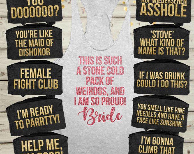 Bridesmaid movie shirtsbachelorette shirts funny | Etsy ...