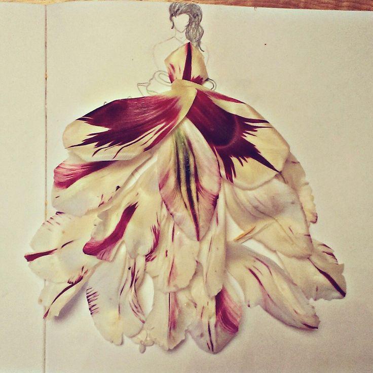 Платья цветы арт дизайн