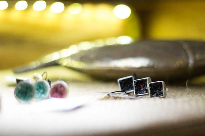 Silver / agate jewellery