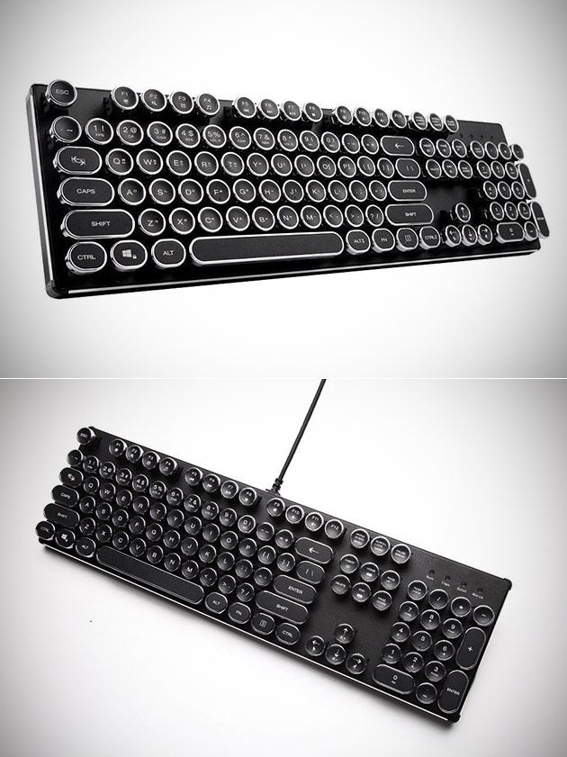 Don't Pay $400 Get the KrBn Typewriter USB Retro Steampunk Keyboard for $89.99 Shipped - Today Only