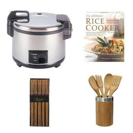 Zojirushi NYC-36 20-Cup Commercial Rice Cooker and Warmer in Stainless Steel BundlechenAid Cook's Series Ceramic Crock With Tools Set *** You can find out more details at the link of the image. #RiceCookers