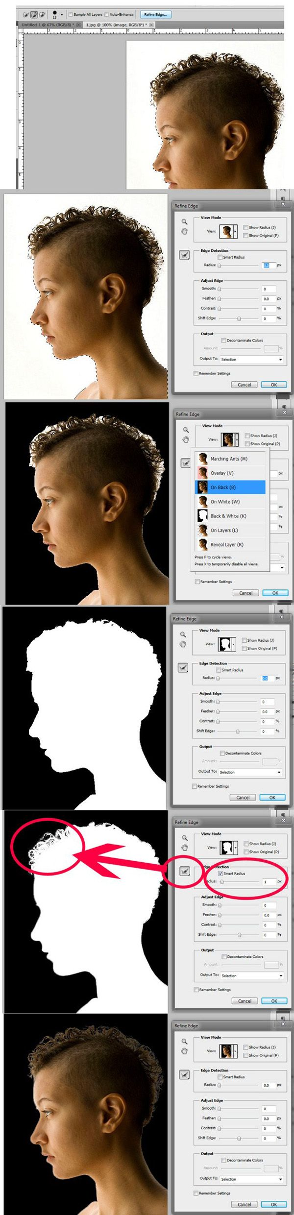 One of the most difficult and frustrating tasks in Photoshop is making a clean and decent selection on photos that involve super fine hair, fur, leaves, and any fiber like elements.  When using the standard selection tool or the masking process, you may able to accurately select smooth edges. We