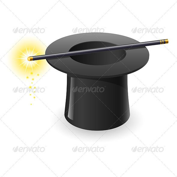 Magic  #GraphicRiver         Magic wand and hat. Illustration on white background     Created: 6April12 GraphicsFilesIncluded: VectorEPS Layered: Yes MinimumAdobeCSVersion: CS Tags: animal #attractive #background #black #bunny #cane #cap #cartoon #clothes #conjurer #cute #cylinder #ears #entertainment #festive #fluffy #focus #graphic #hare #hat #idea #illusion #illustration #isolated #luster #magic #magic-wand #magician #object #party