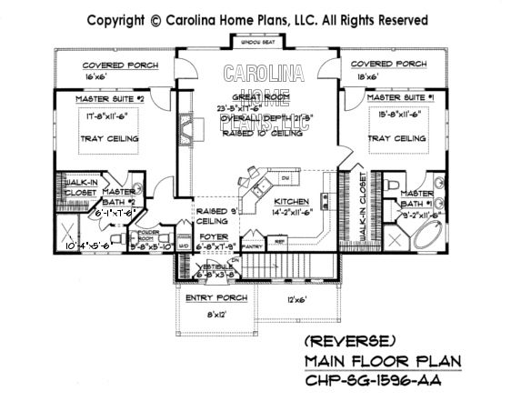 Small craftsman bungalow house plan chp sg 1596 aa sq ft for 1400 to 1600 sq ft house plans