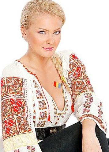 Cristina Dochianu, #Romanian TV presenter for Sports News at Antena 1 #Romania #RomanianBlouse