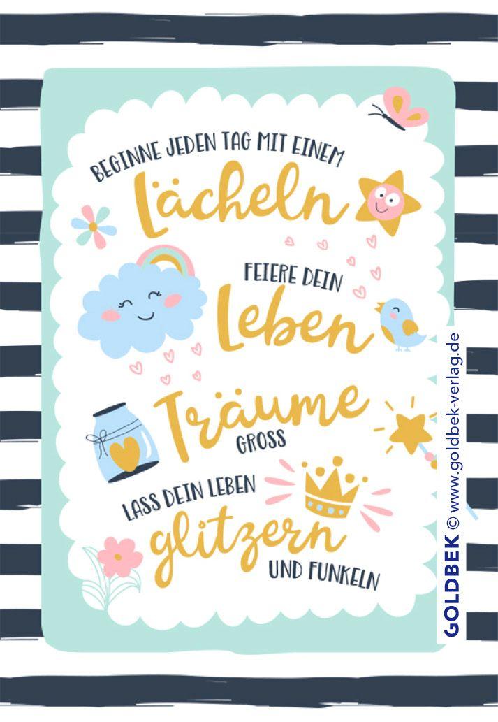 Postkarten Spruch Süße Typo Karte In Pastelltönen Postkarten