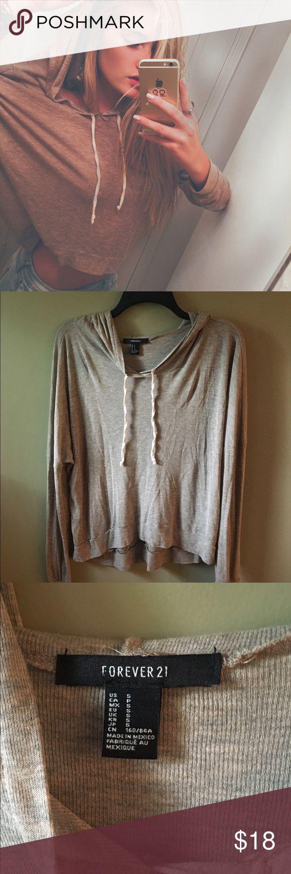 slouchy beige hoodie oversized super comfy beige hoodie Forever 21 Tops