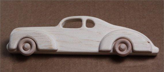 Madera artesanal de 1939 Ford Coupe por mygrandpaswoodentoys