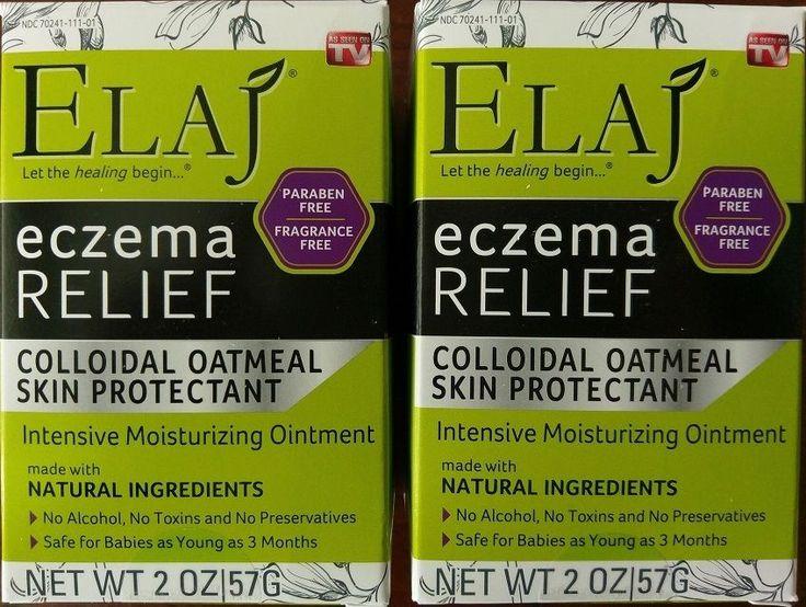 ELAJ Eczema Relief Colloidal Oatmeal Skin Protectant Ointment ~ NEW Lot of 2 #ELAJ
