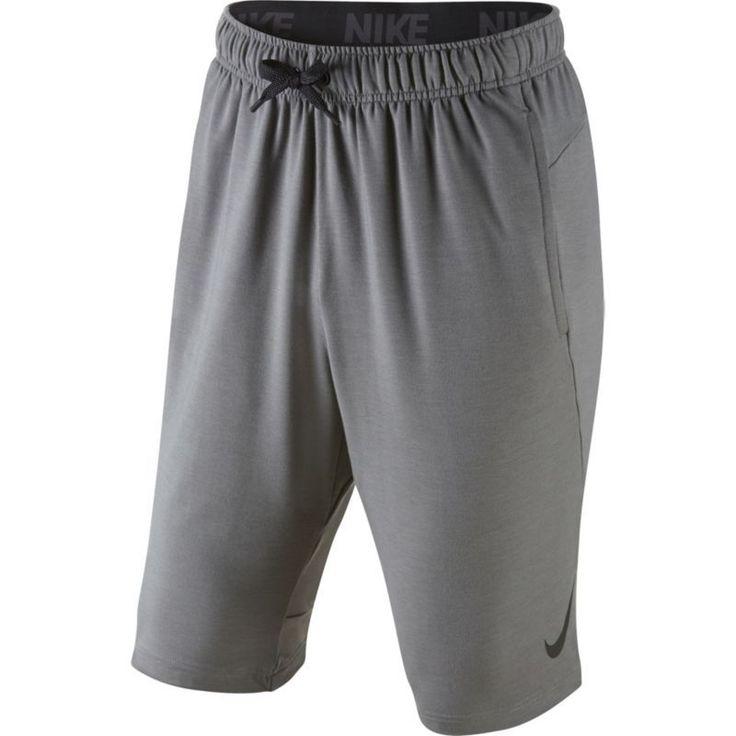 Nike Men's Dri-FIT Fleece Shorts, Size: Medium, Gray