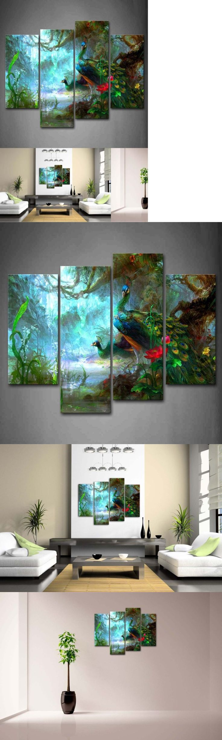 Posters and Prints 41511: Peacock Wall Art Painting Picture Print Canvas Bird Animal Photo Home Decor Gift -> BUY IT NOW ONLY: $67.11 on eBay!
