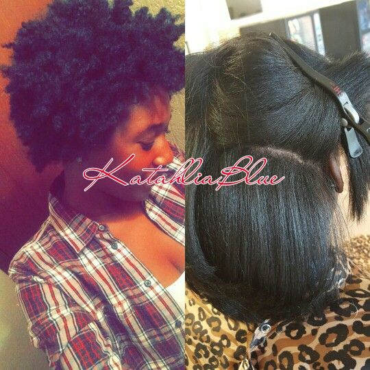 Silk Blow Out On Natural Hair Also Known As A Silk Press