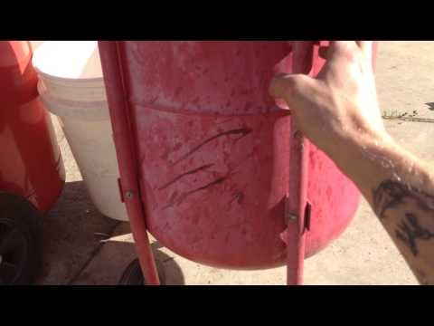 DIY wet sand blasting - setup - YouTube