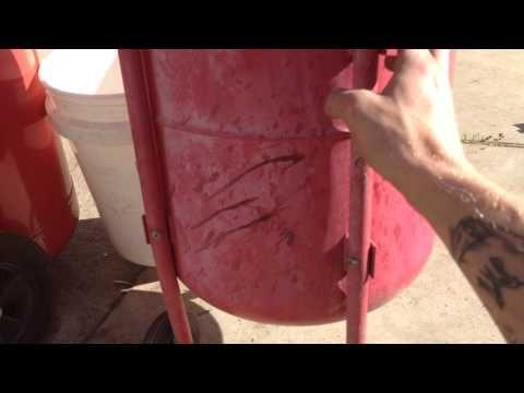 DIY wet sand blasting - setup - YouTube