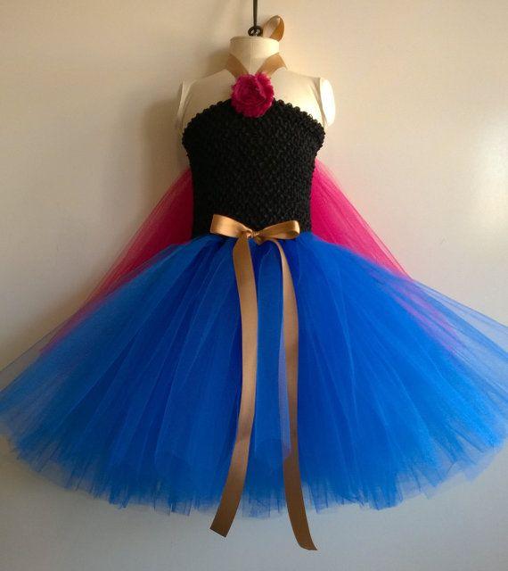 Frozen inspired Princess Anna Tutu Dress, Birthday party dress, Princess Dress, Dress up, Costume on Etsy, $22.00