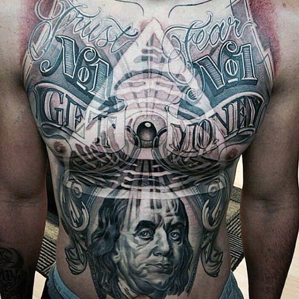 The 100 Best Chest Tattoos For Men: Top 100 Best Stomach Tattoos For Men