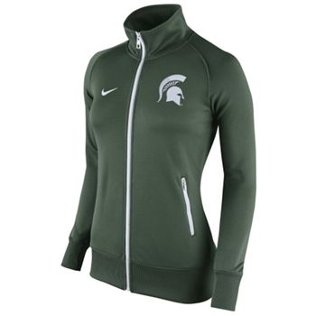 Women's Nike Michigan State Spartans Stadium Classic Full Zip Track Jacket-Green