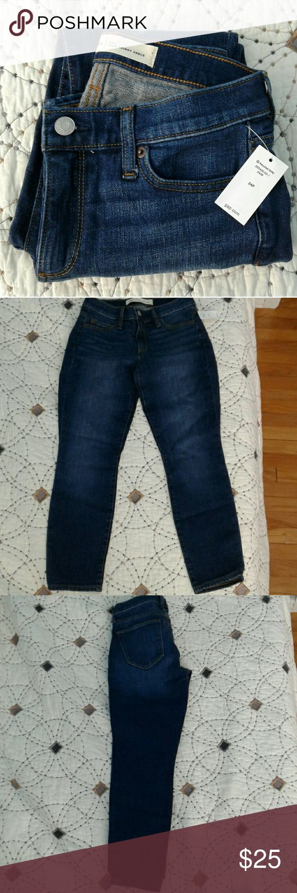 Gap Skinny Ankle jeans 24P NWT comfortable, just didn't happen to fit me. GAP Jeans Ankle & Cropped