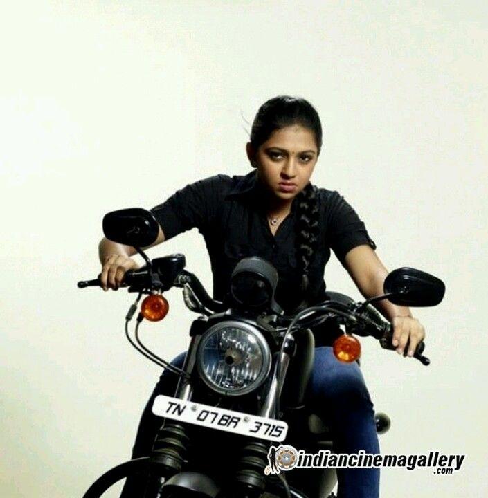 Kollywood actress snapped while riding a bike ----- LAKSHMI MENON -----