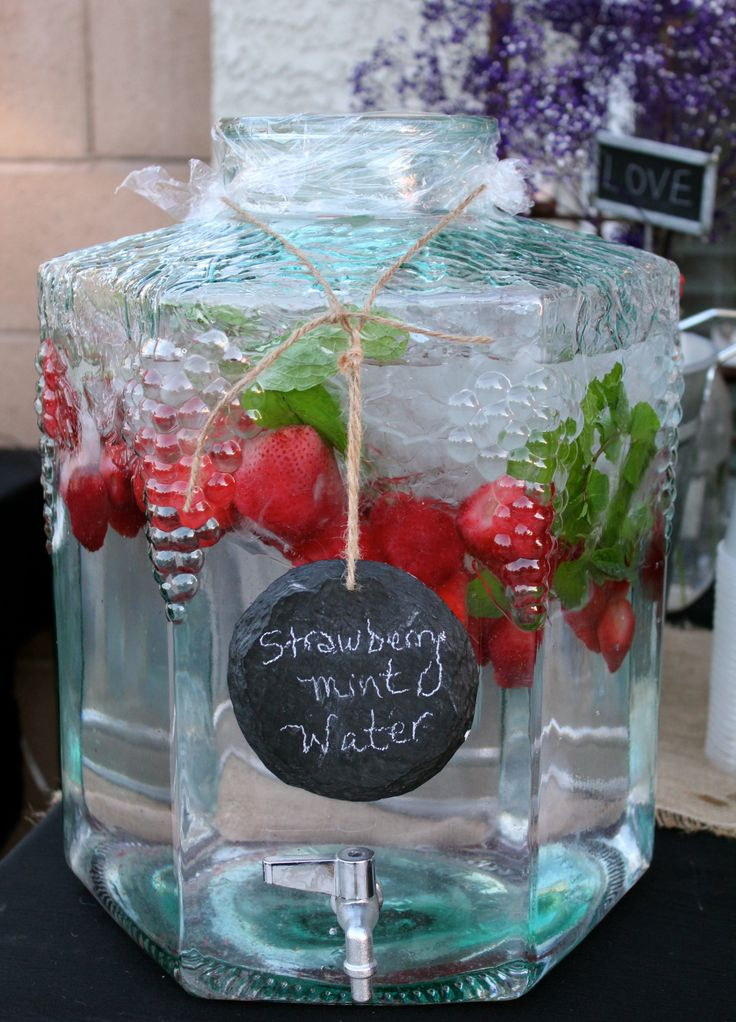 If you wanted something like this? I have a huge glass mason Jar style ...Jug. Let me know and I can bring it?