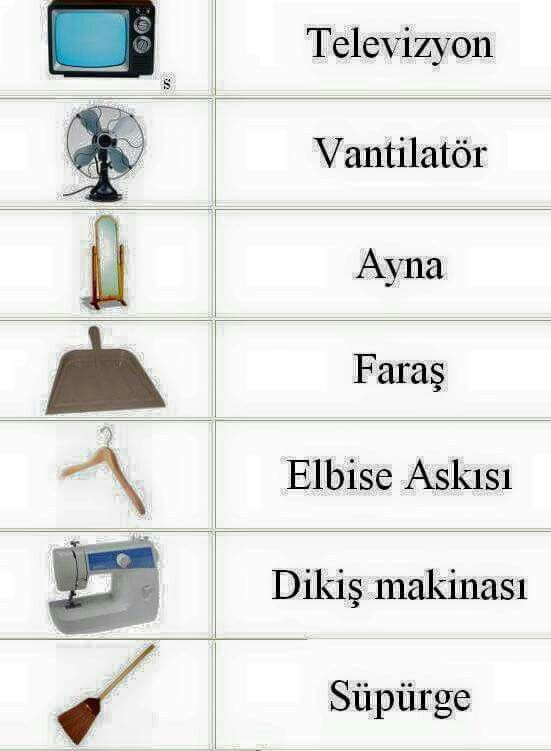 Some words in Türkçe