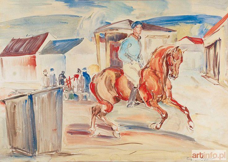 Eugeniusz GEPPERT ● Jockey na koniu ●