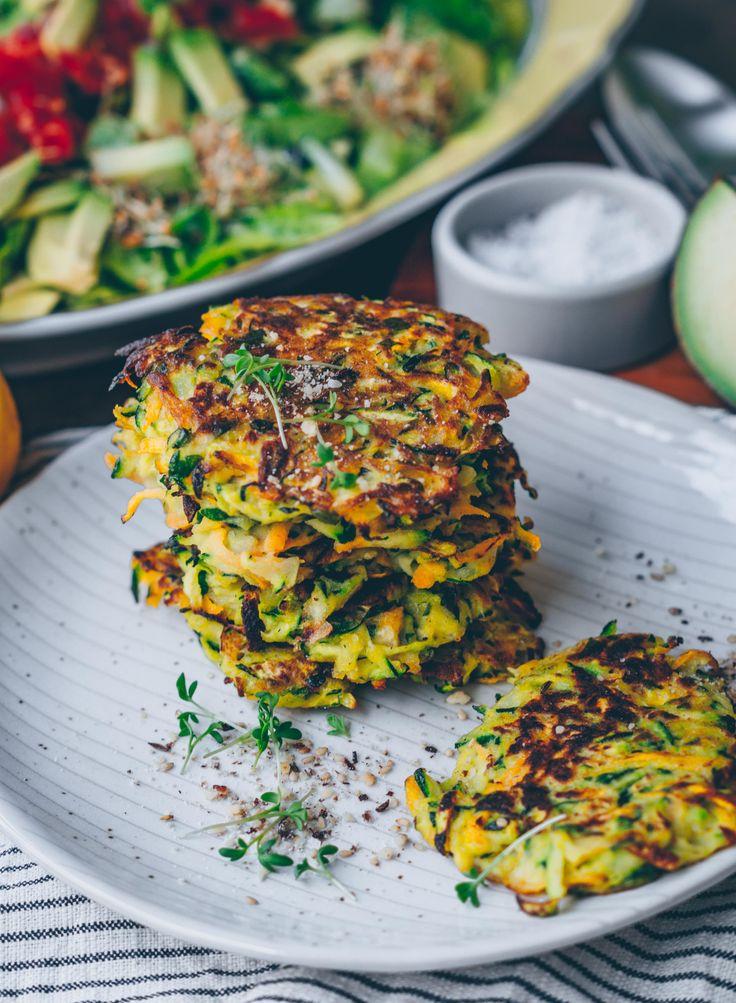 Karotten Zucchini Puffer (vegan & GF)
