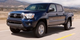 2012 Toyota Tacoma ranks 1 out of 6 Compact Pickup Trucks. well-made, Features easy to use. new looks and more high-tech features.   , sportiest compact pickup truck. When equipped with the TRD off-road package, it's fairly capable when taken off-road, and its on-road handling isn't bad either. But reviewers dislike the brakes, which feel soft and mushy, and they universally pan the tiny jump seats in the back of the Access Cab. good job of combining interior features, performance...