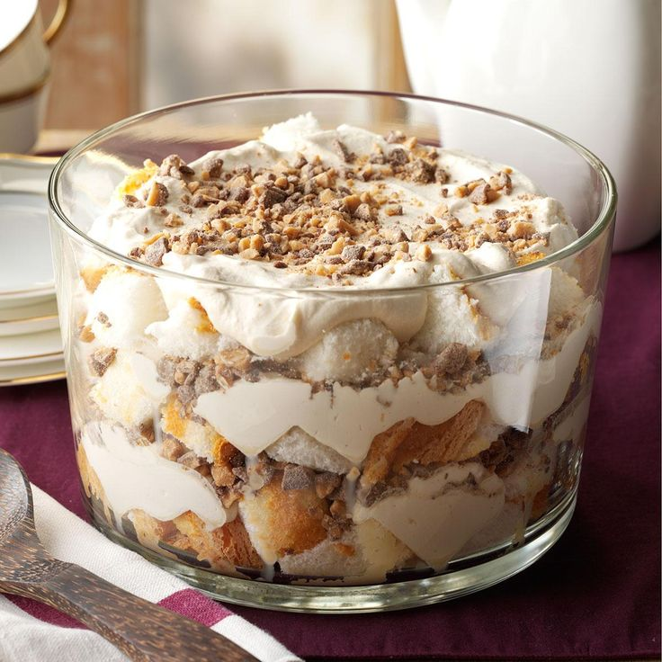 Caramel Fluff & Toffee Trifle Recipe -Talk about a stunning dessert! The best part? You need just five ingredients to put it together. —Daniel Anderson, Pleasant Prairie, WI