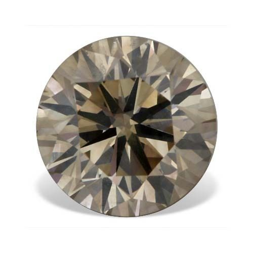 1 04 CTW Champagne SI 1 Clarity Round Brilliant Loose Natural Solitaire Diamond |http://www.diamondzul.com